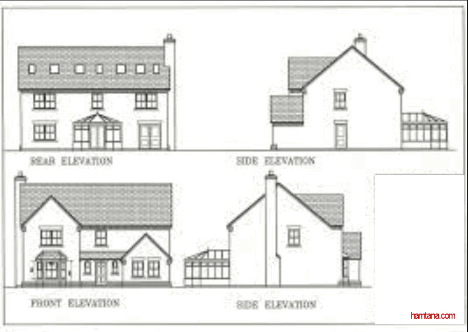 House design , Elevations